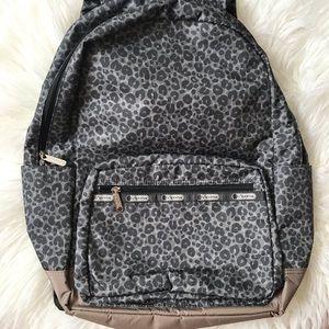 LeSportac army cheetah print backpack.